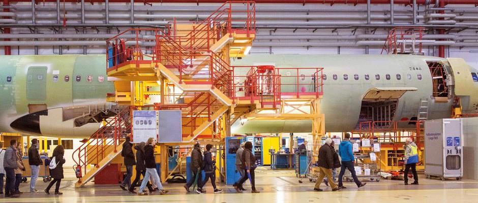 Airbus Werksführung in Hamburg