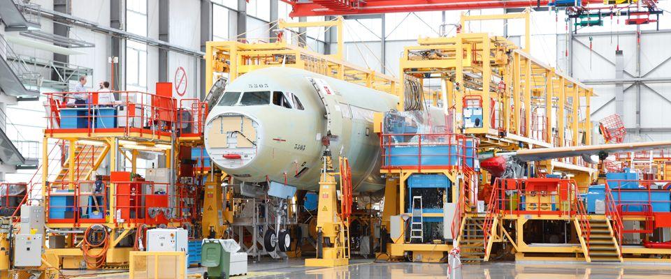 Besuchertouren durch die Airbus Werke